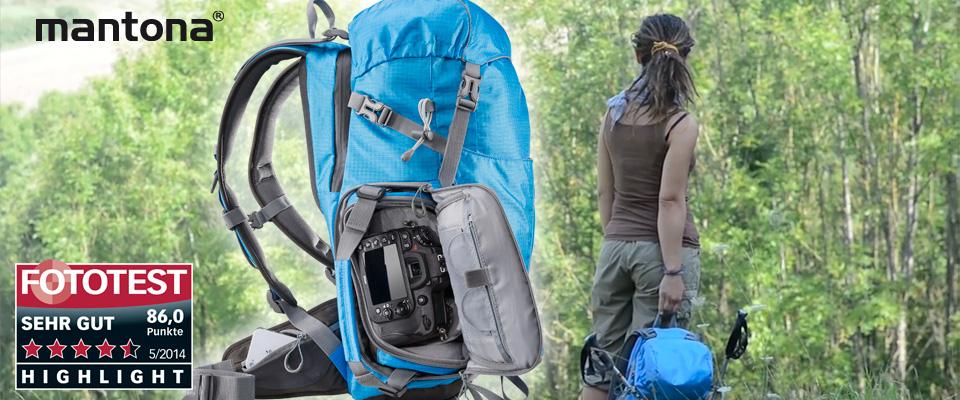 mantona Elements Outdoor Rucksack blau